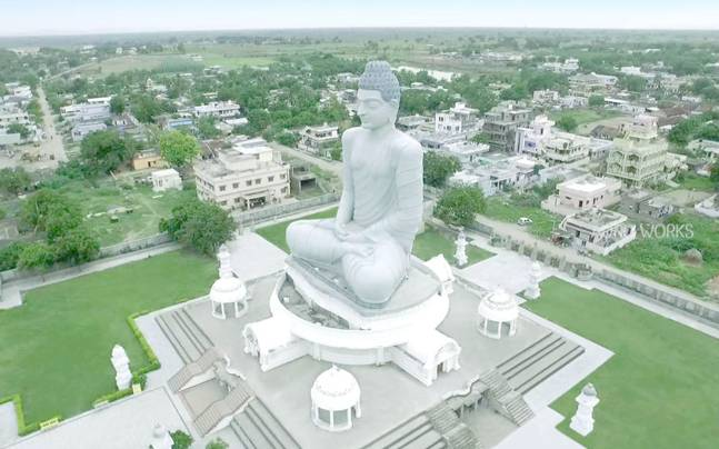 Dhyana Buddha Statue in Amravati