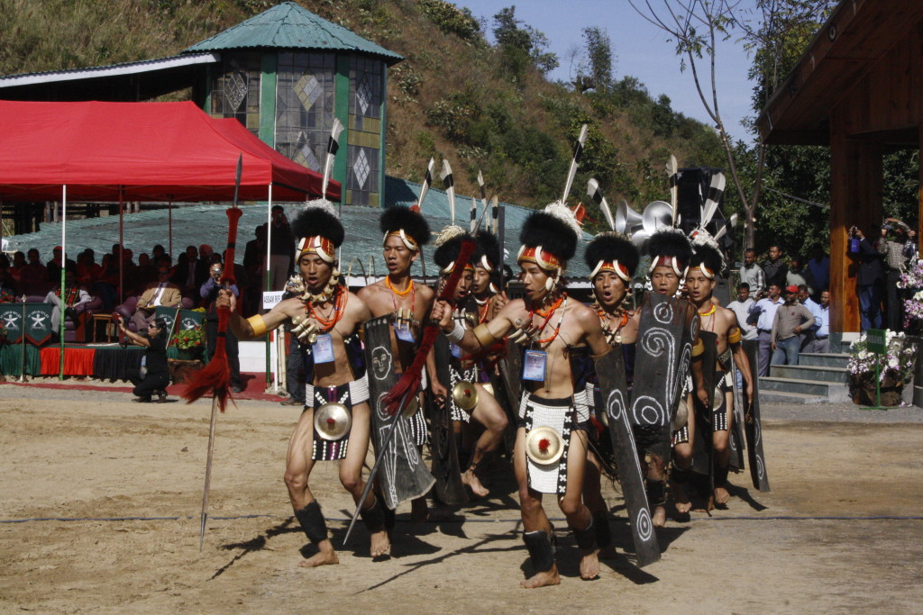 Tribal group performing in Hornbill Festival Nagaland