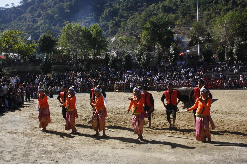 Cultural dance in Hornbill Festival