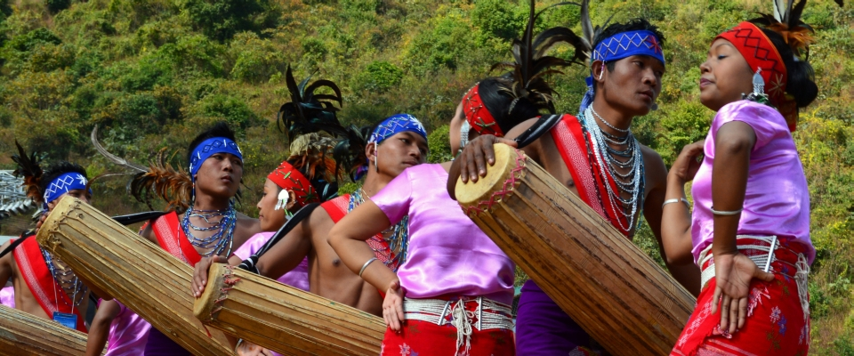folk dancers in hornbill festival