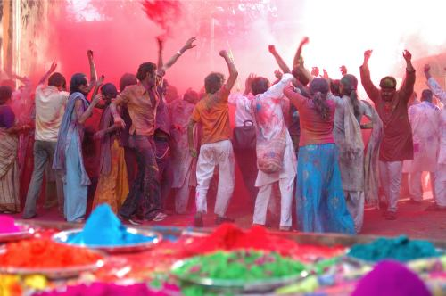 Best places to celebrate Holi in India, delhi