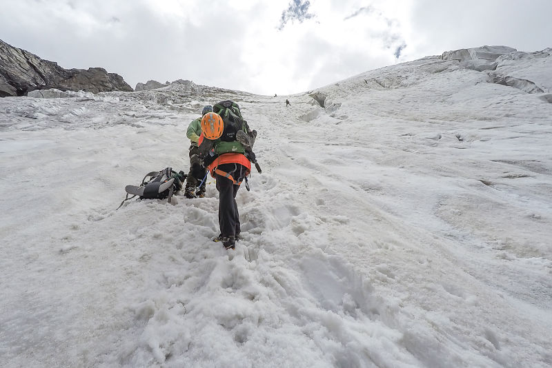 Climbing the icefall - Nun Expedition