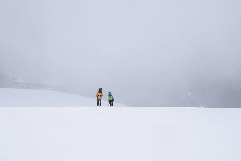 Pasang and Nima approaching camp 1 - Nun Expedition