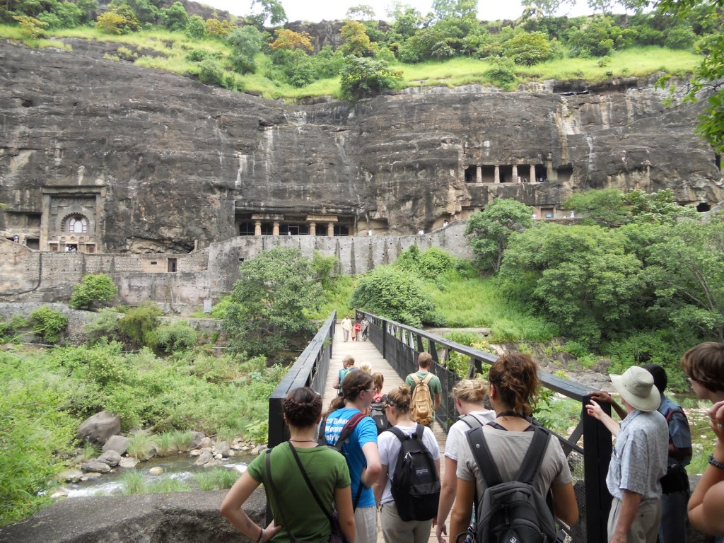 entering ajanta ellora caves
