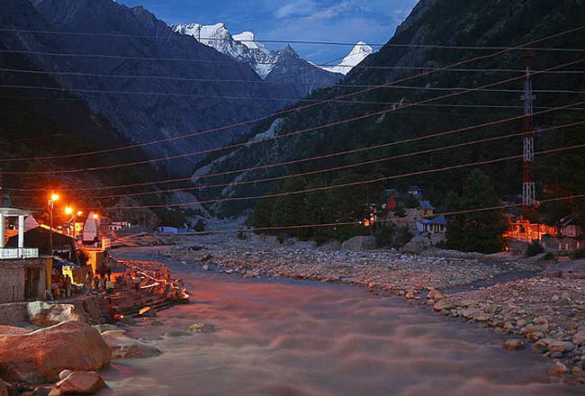 Gangotri Temple with ganga rivers