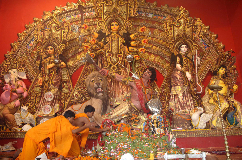 Durga Puja Festival on the Maha Dashami at Kolkata