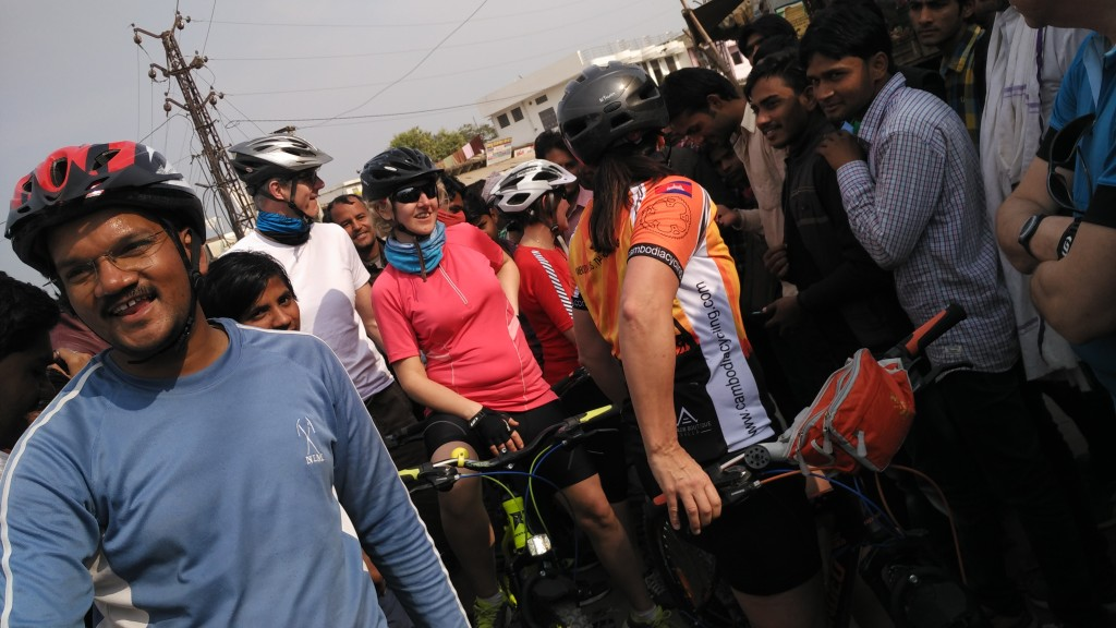 During Rajasthan cyclying trip