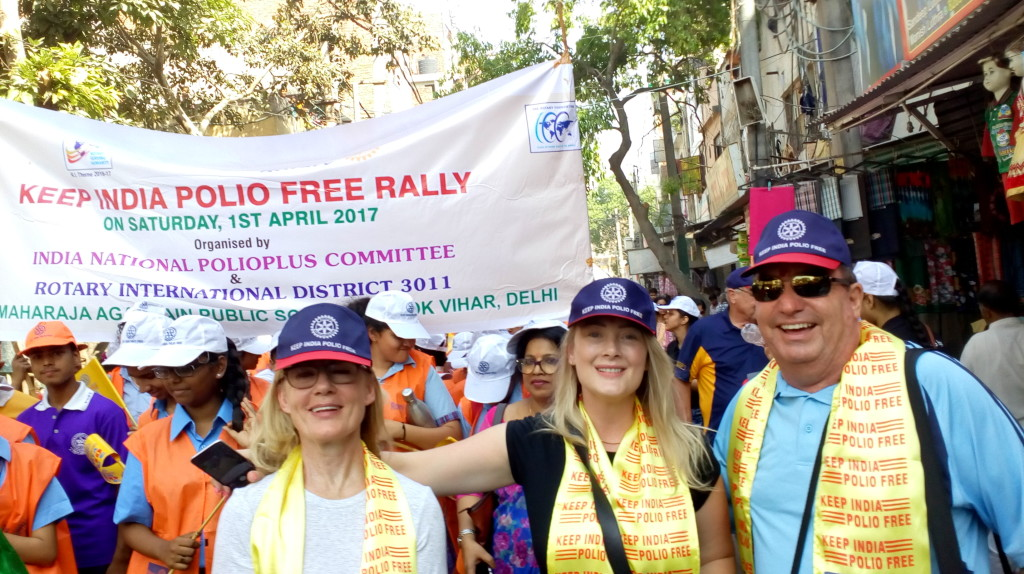 NID tour team during polio awareness rally