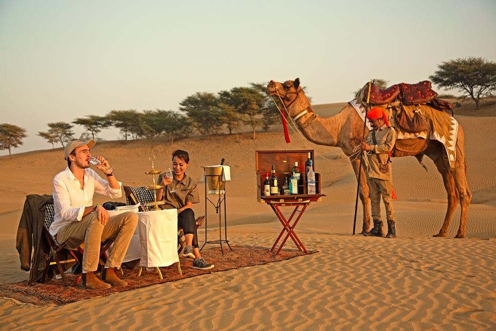 desert sundowner in thar desert