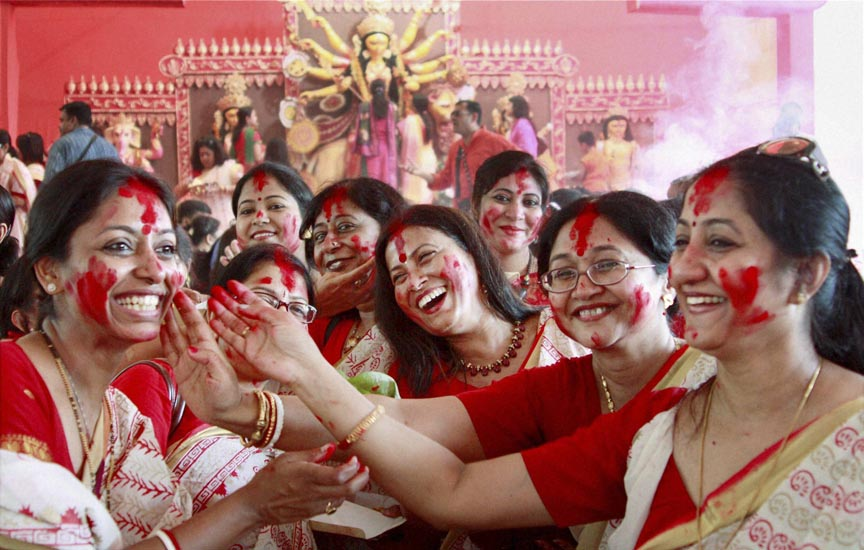Durga puja celebrations ends