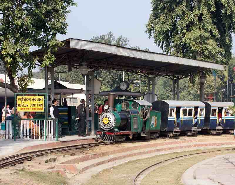 toy train at national rail museum delhi