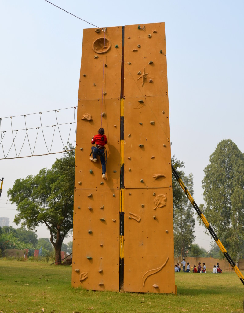 Wall climbing at Shikhar Adventure Park