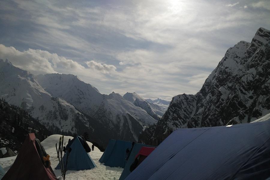 stunning views of Pir Panjal range from Mount Friendship