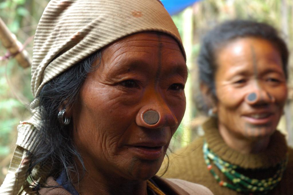 Apatani tribal women in Ziro valley, Arunachal Pradesh