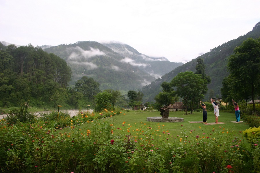 Yoga in Shikhar Nature Resort Uttarkashi