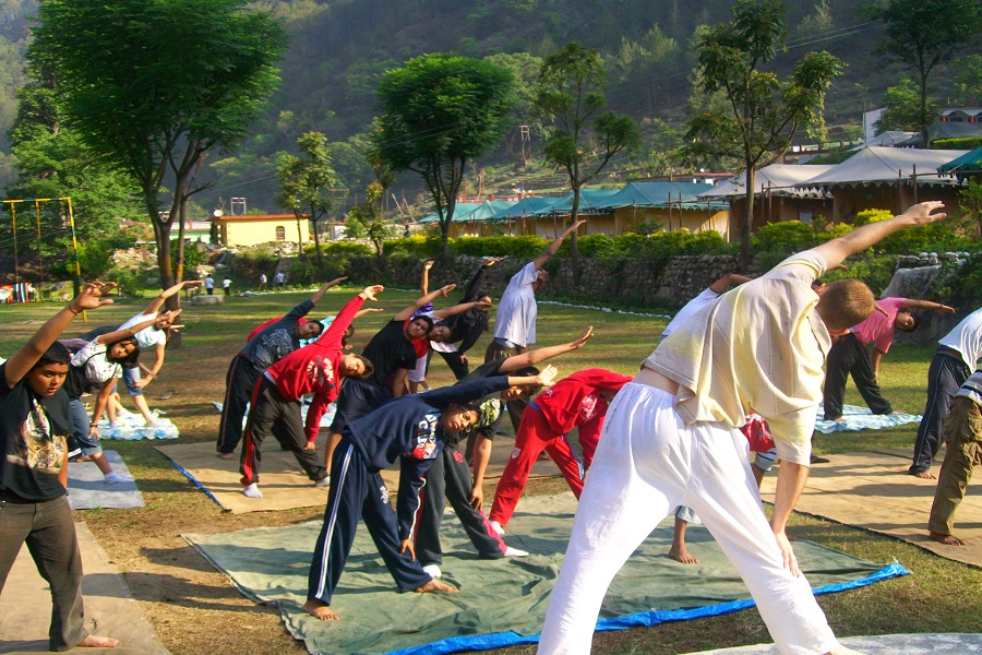 Yoga Session in Shikhar Nature Resort
