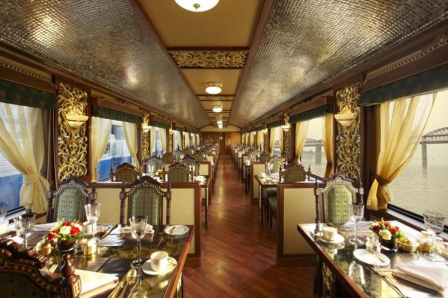 Restaurant onboard Maharajas Expresss