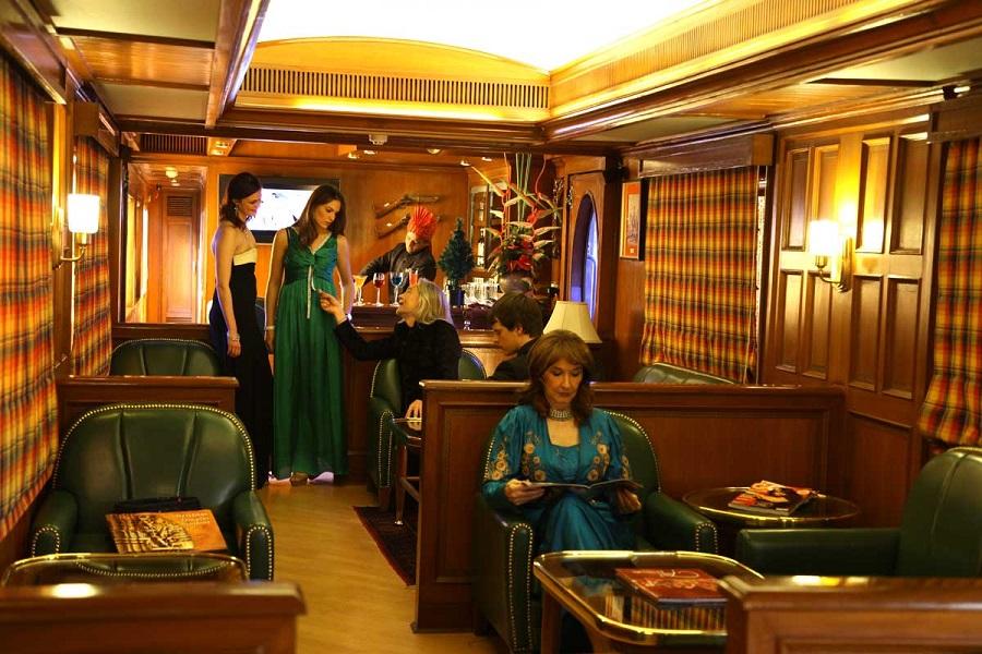 Lounge onboard Maharajas Expresss